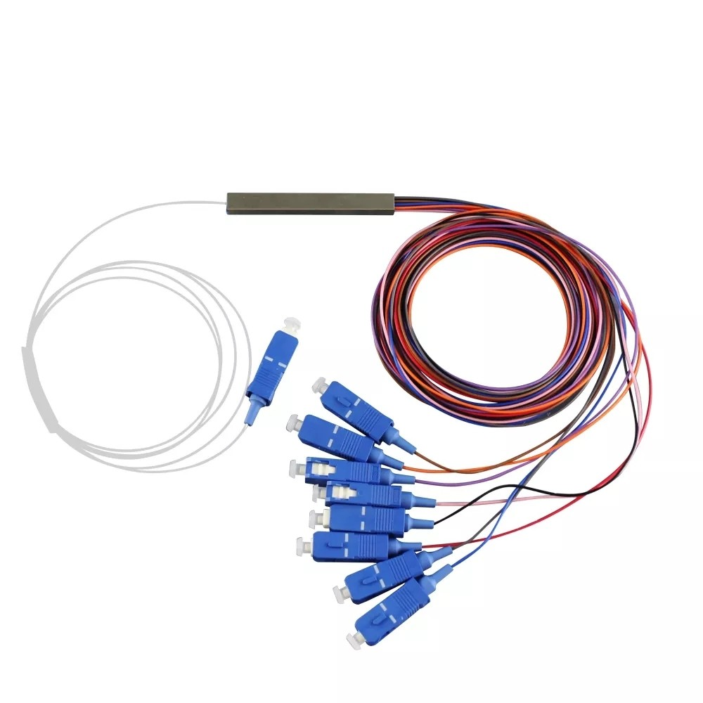 10 Splitter Óptico Balanceado 1x8 SC UPC 2FLEX