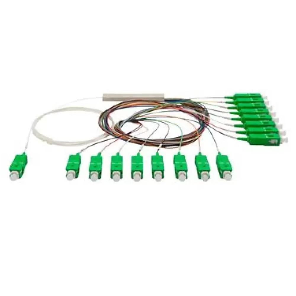 10 Splitter Óptico Balanceado Conectorizado 1x16 SC APC TRANSCEND