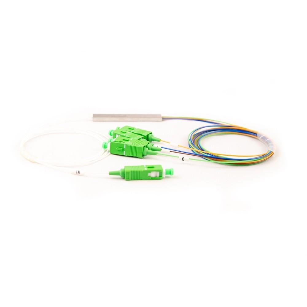 10 Splitter Óptico Balanceado Conectorizado 1x4 SC APC 2FLEX