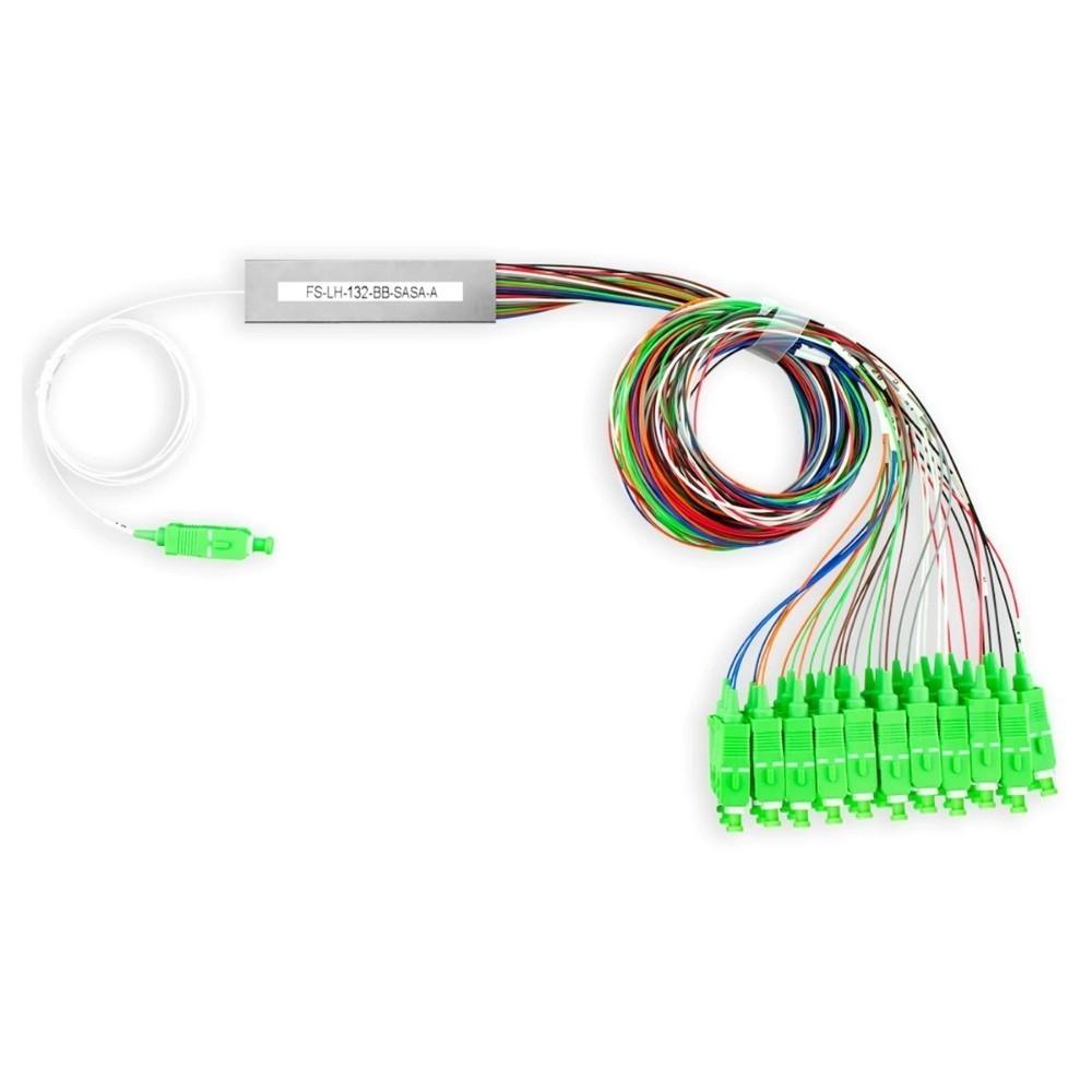 10 Splitter Óptico Conectorizado 1x16 SC APC NAZDA