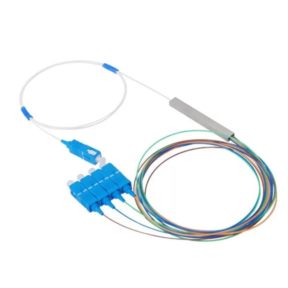 10 Splitter Óptico Conectorizado 1x4 SC UPC TRANSCEND