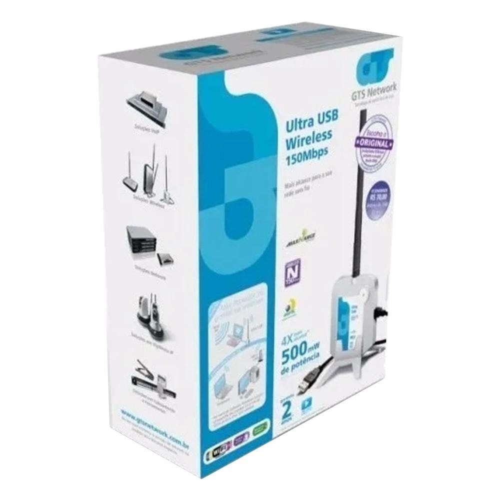 Adaptador Wireless Ultra Usb 150mbps + Antena 7dbi 500mw