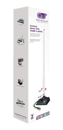 Antena Roteador Omni 10dbi 360º Highbooster GTS NETWORK