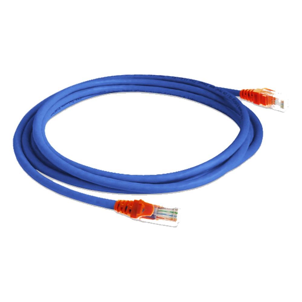 Cabo de Rede Cat5e Patch Cord 2.5 M 4 Pares UTP Azul LAN EXPERT