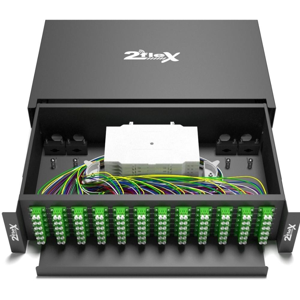 Distribuidor Interno Optico  DIO 144 FO LC APC 2FLEX