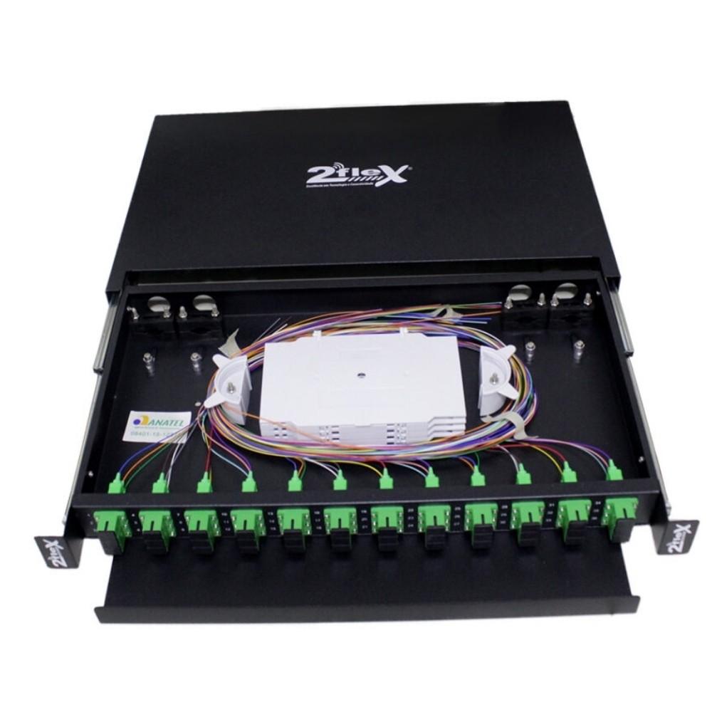 Distribuidor Interno Óptico DIO 36FO SC APC 2FLEX