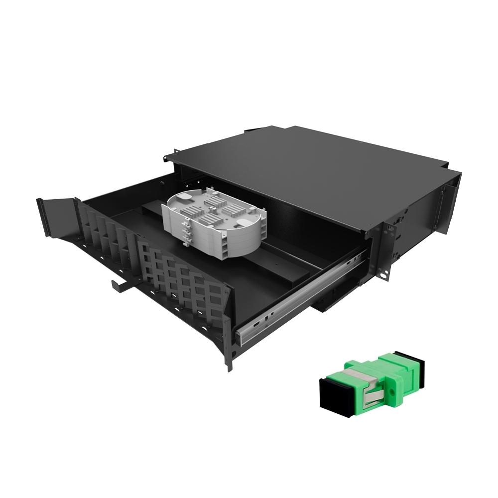 Distribuidor Interno Óptico DIO 48FO SC APC FIT AC FIBRACEM