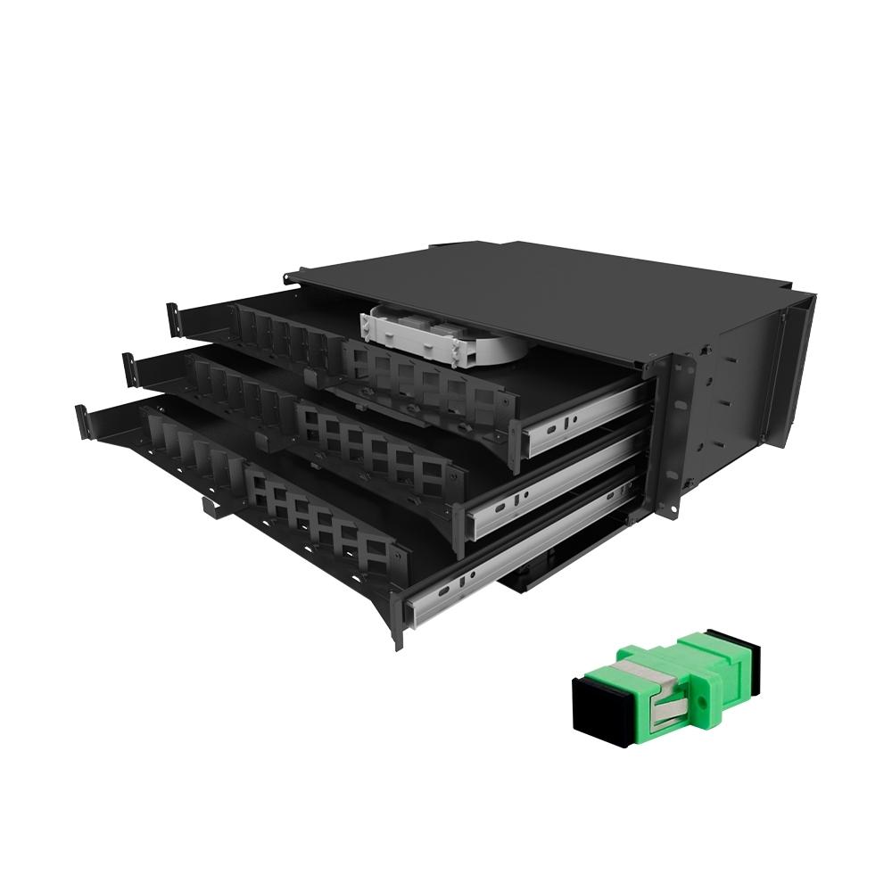 Distribuidor Interno Óptico DIO 72FO SC APC FIT AC FIBRACEM