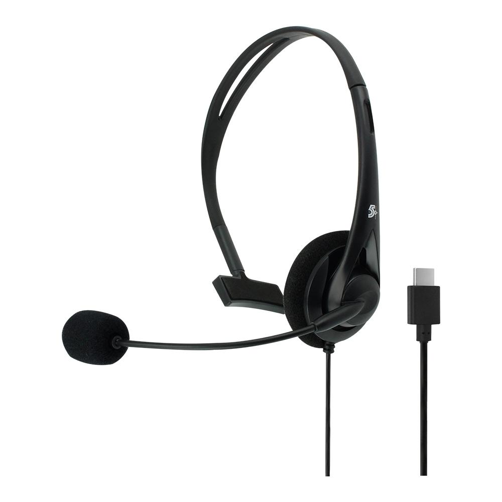 Headset Office Estilo Secretaria Para Telefone Conector USB C 5+