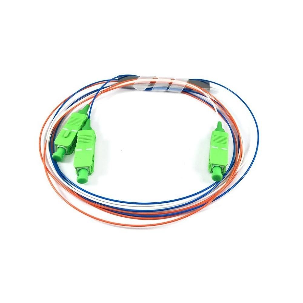 Splitter Óptico 1x2 SC APC Desbalanceado 20 80 2FLEX