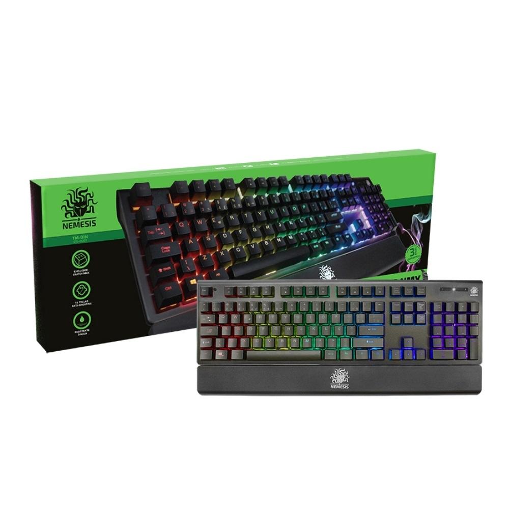 Teclado Gamer Mecânico RGB NXM TM-01N NEMESIS