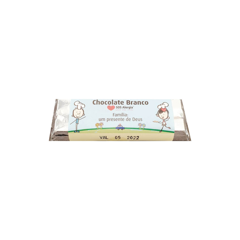 Barrinha de Chocolate Branco Sem Leite SOS Alergia 20g