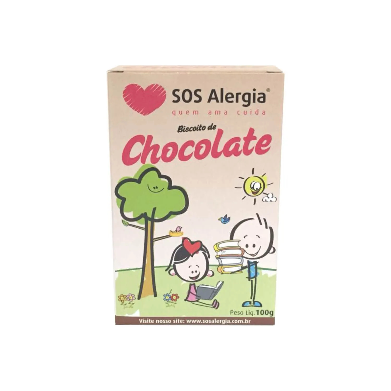 Biscoito SEM SOJA Chocolate SOS Alergia 100g