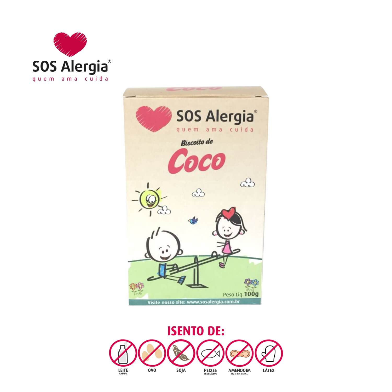Biscoito SEM SOJA Coco SOS Alergia 100g