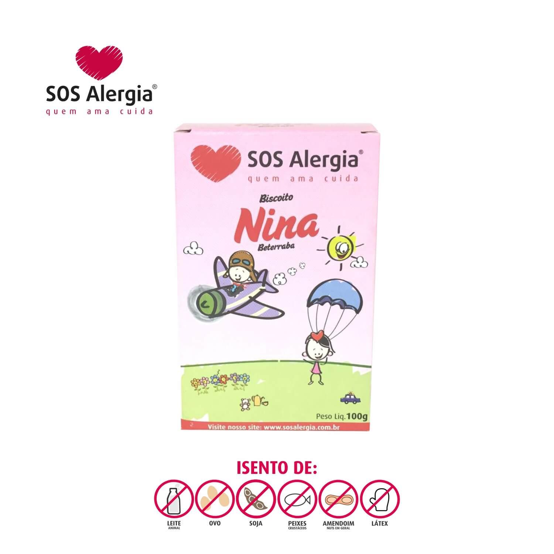 Biscoito SEM SOJA Nina (beterraba) SOS Alergia 100g