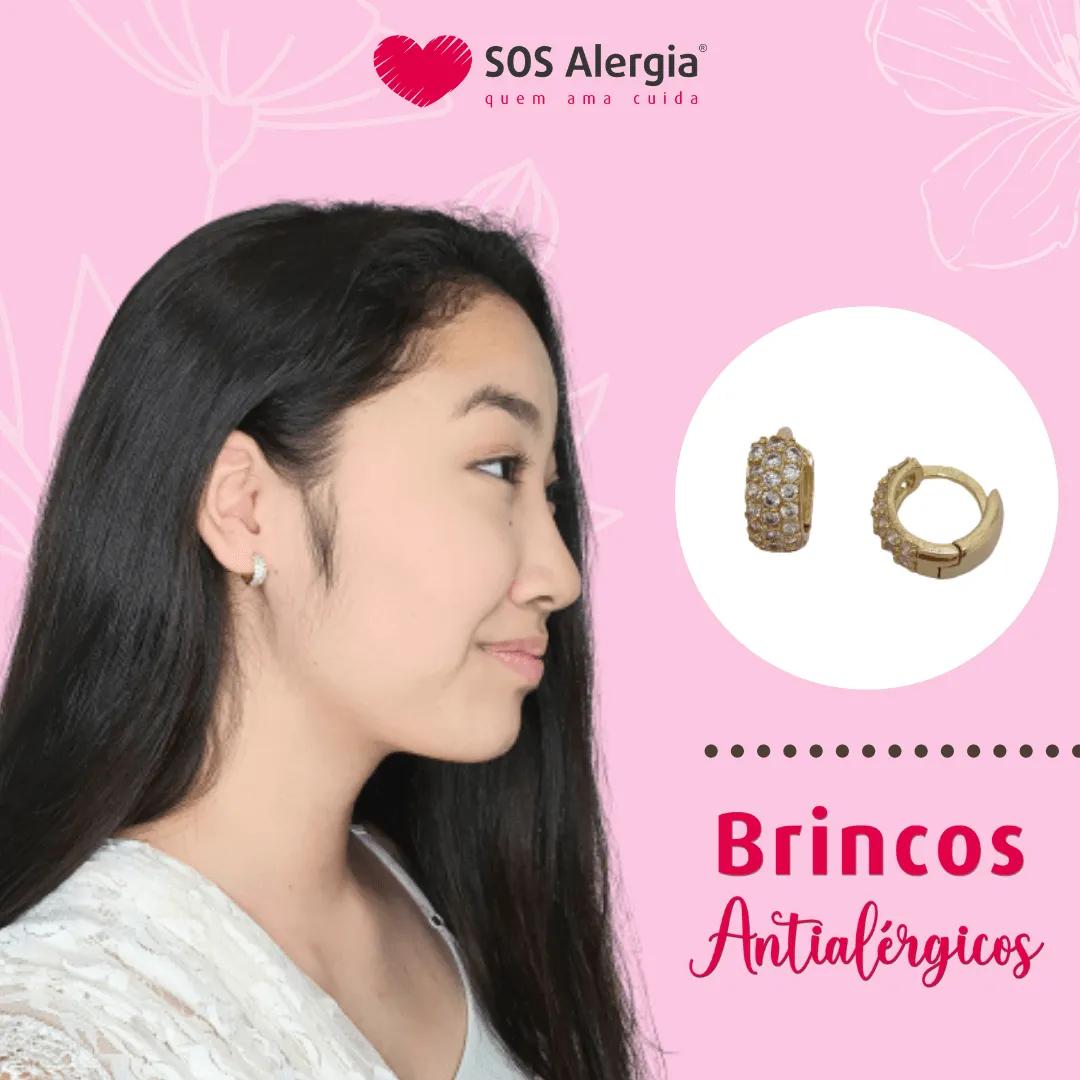 BRINCO ARGOLA SEM NÍQUEL SOS ALERGIA BA1555