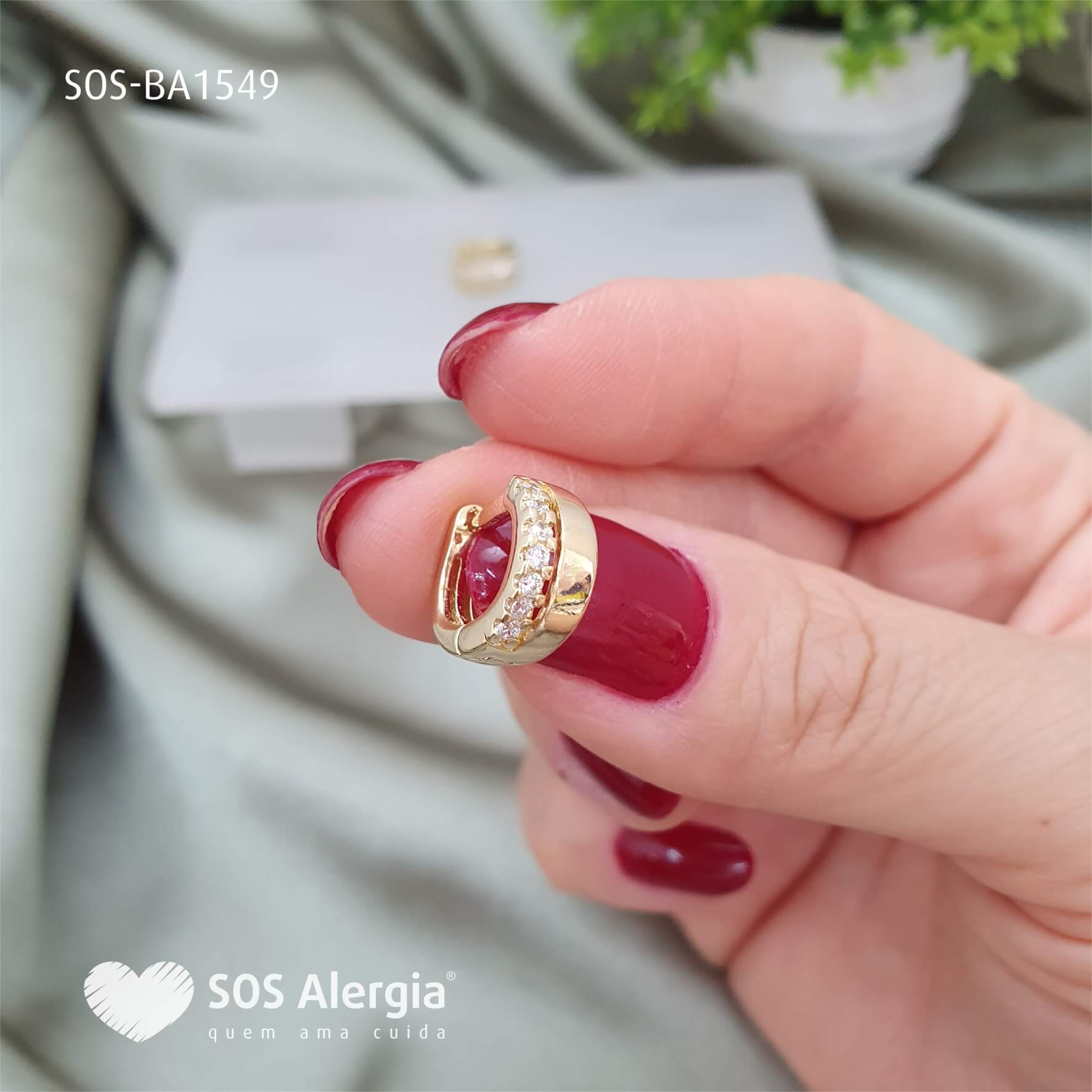 BRINCO SEM NÍQUEL SOS ALERGIA BA1549