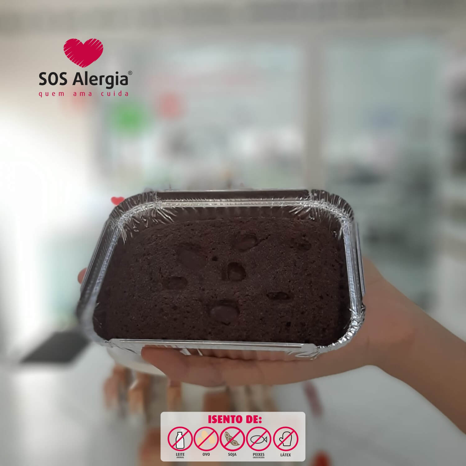 Brownie Chocolate SOS Alergia 100g