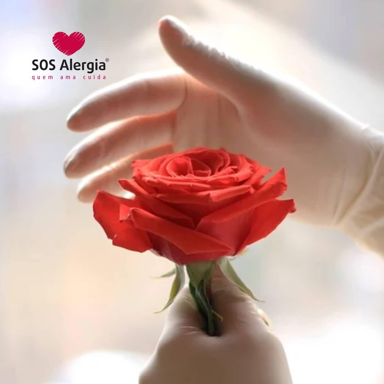 Luva de Algodão SOS Alergia M - par