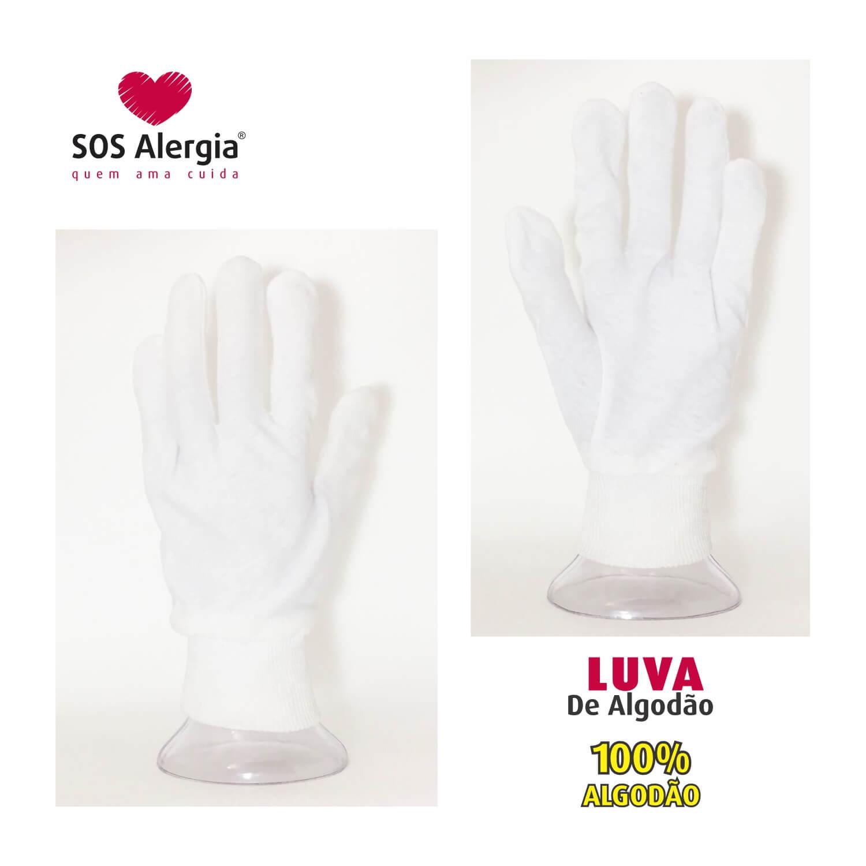 Luva de Algodão SOS Alergia P - par