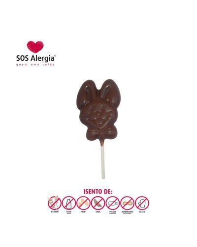 Pirulito de Chocolate Sem Leite 30g Coelho