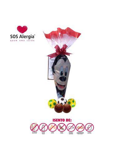 Saquinho Mickey bolinha de futebol SOS Alergia 100g