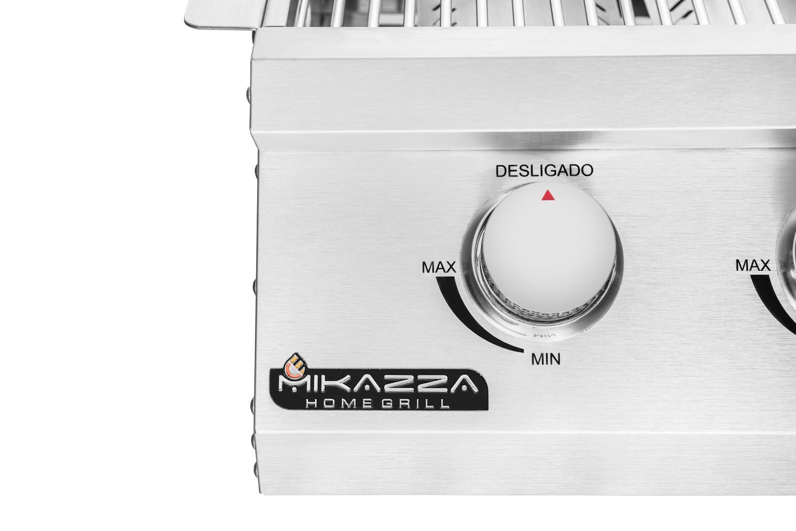 Churrasqueira a Gás Embutir Mikazza Pro 3 Standard
