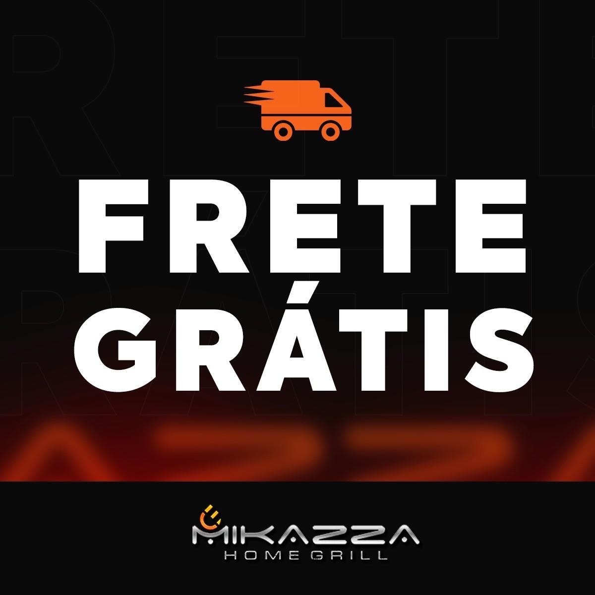 Churrasqueira à Gás Embutir Mikazza Pro 4 Combo + Chapa + Espeto Giratório