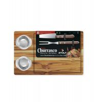 Kit Churrasco Teca com 2 Potes