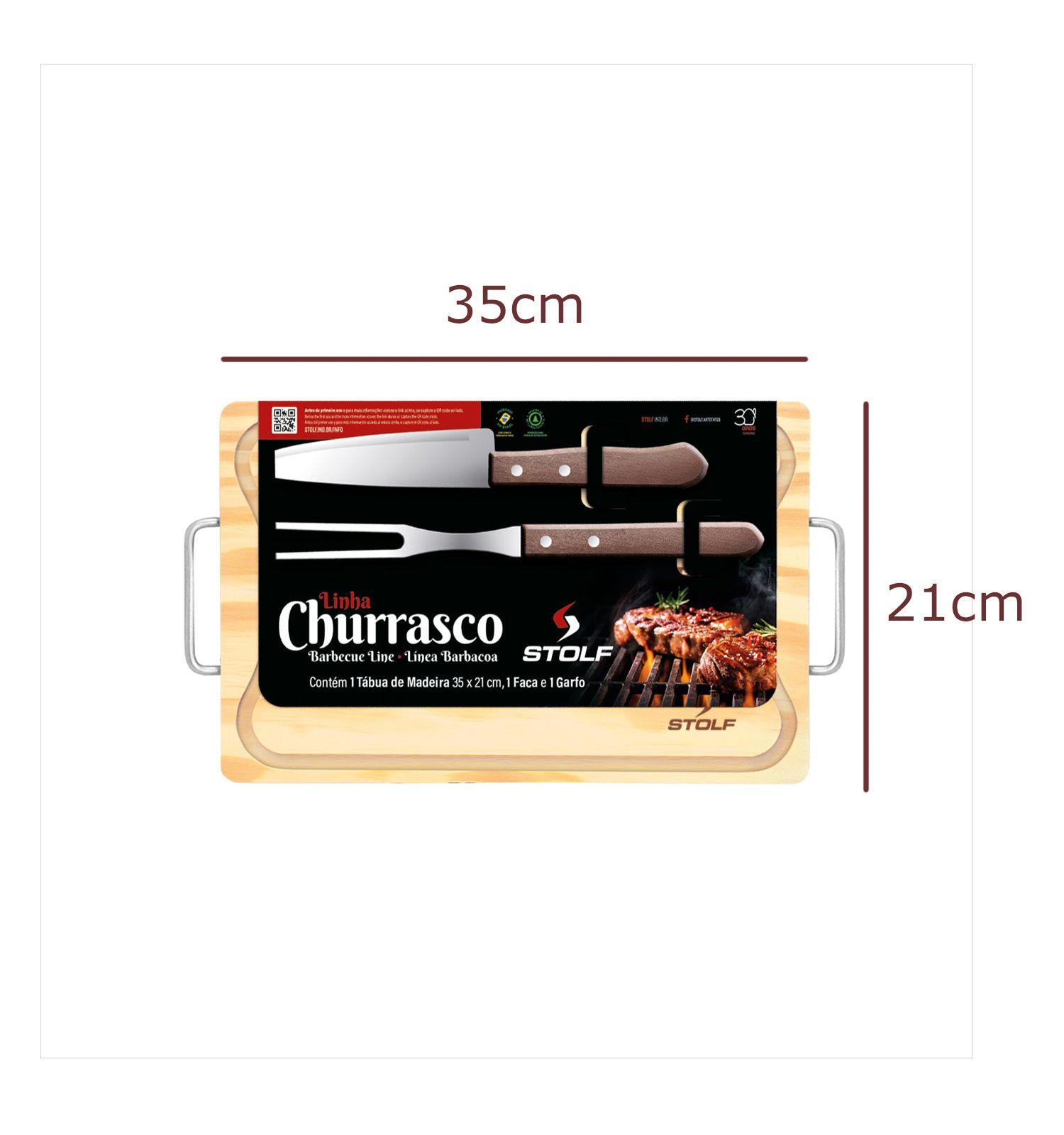 Kit Churrasco Pinus 35x21