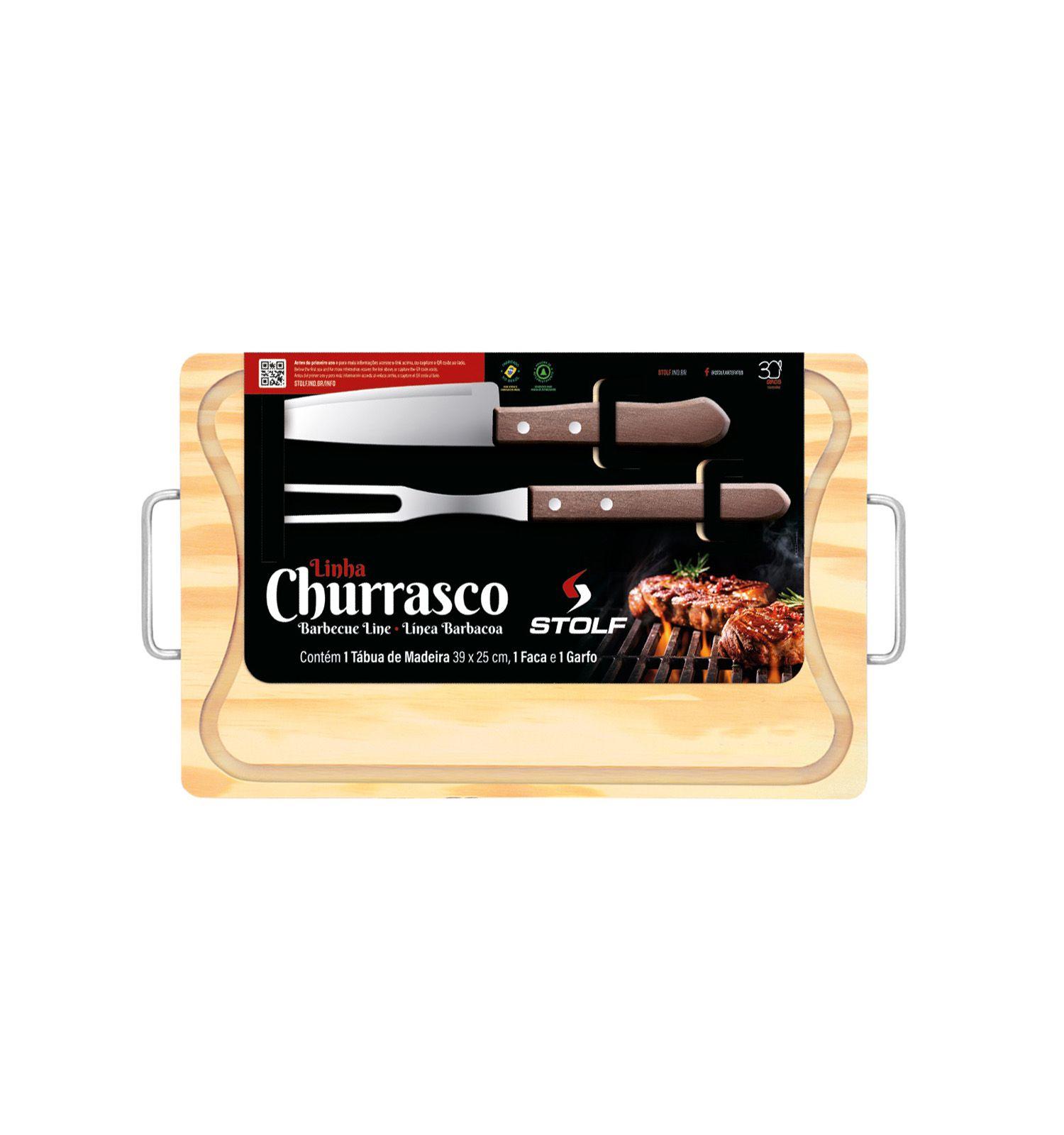 Kit Churrasco Pinus 39x25
