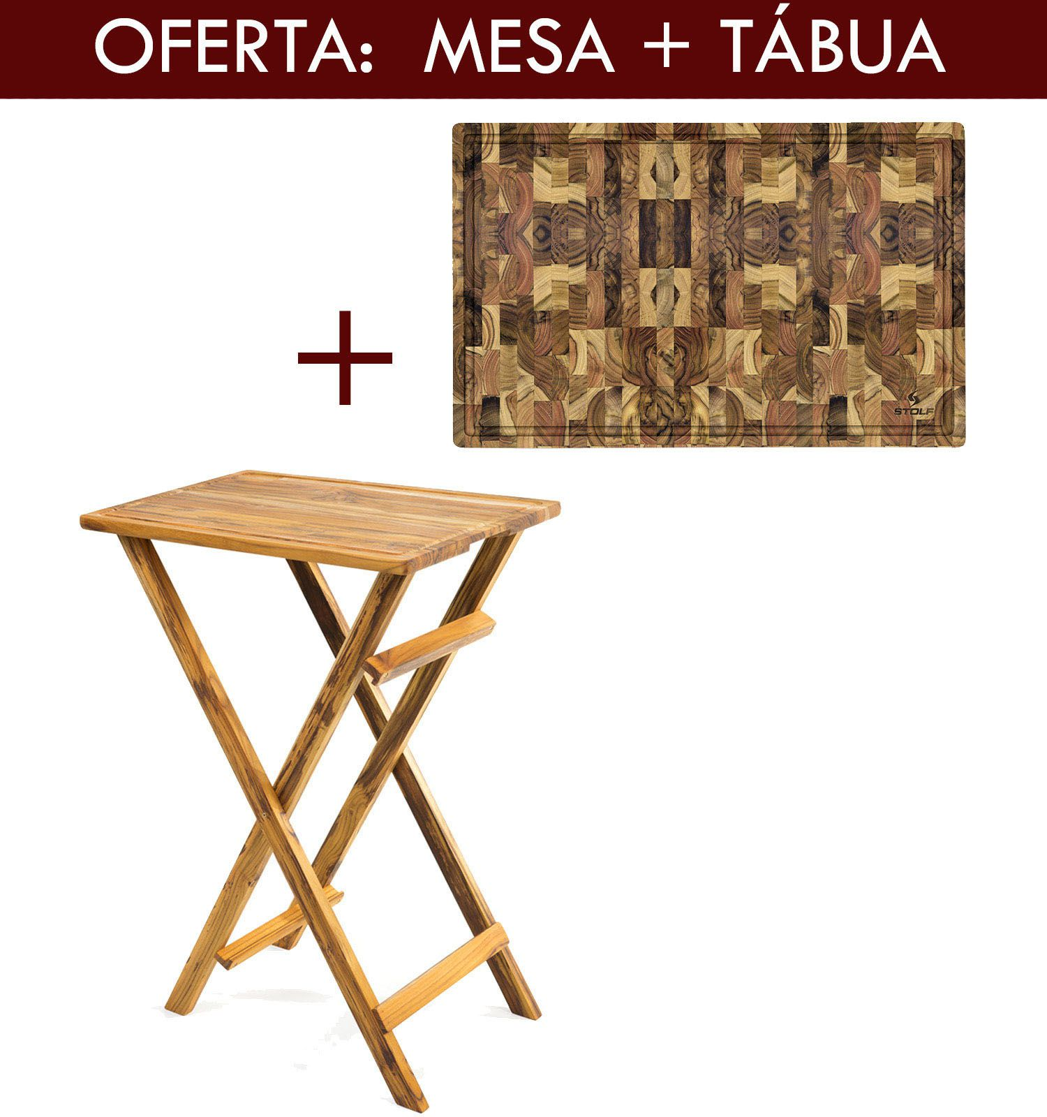 Mesa de Madeira Para Churrasco + Tabua de Carne Personalizados