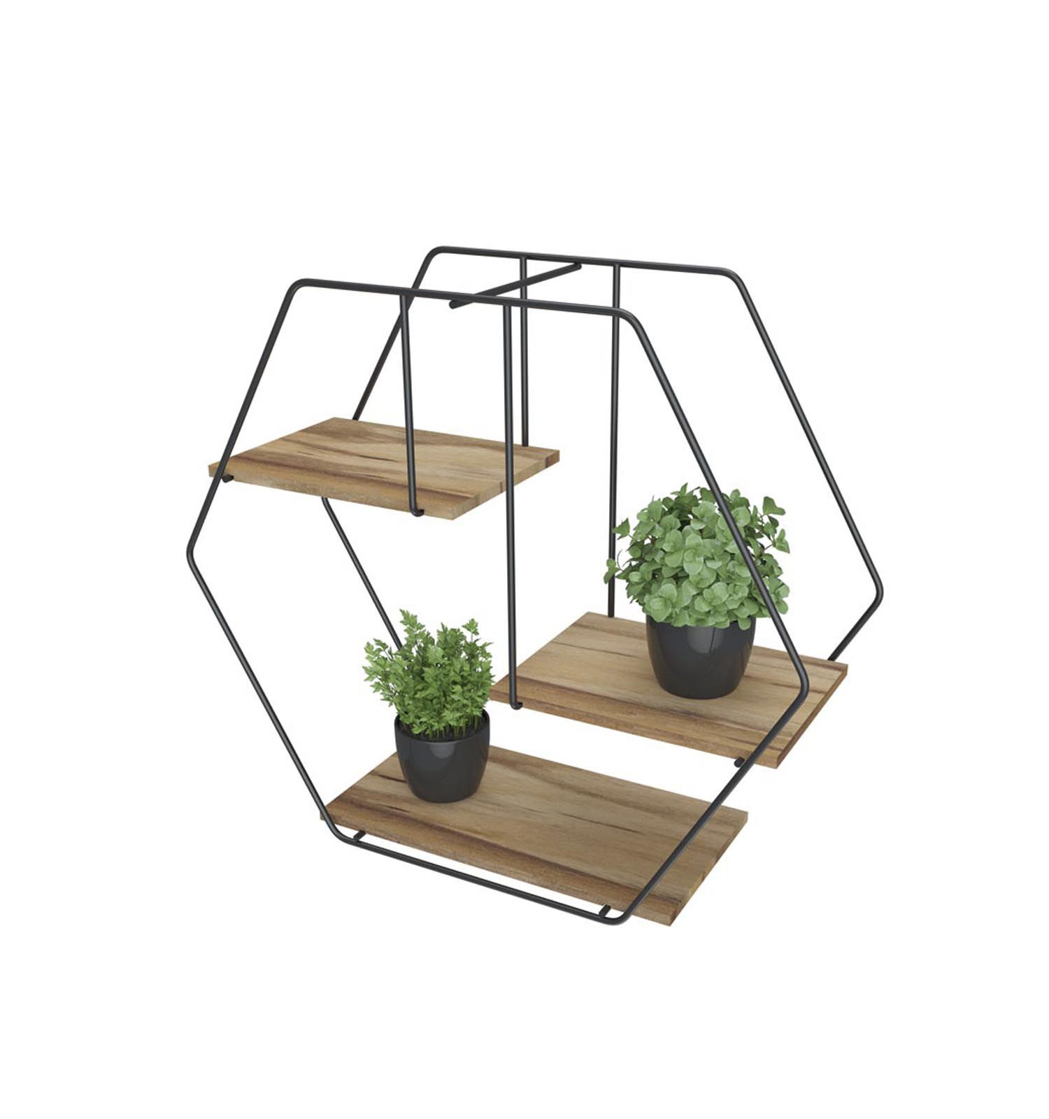 Prateleira Decorativa Hexagonal