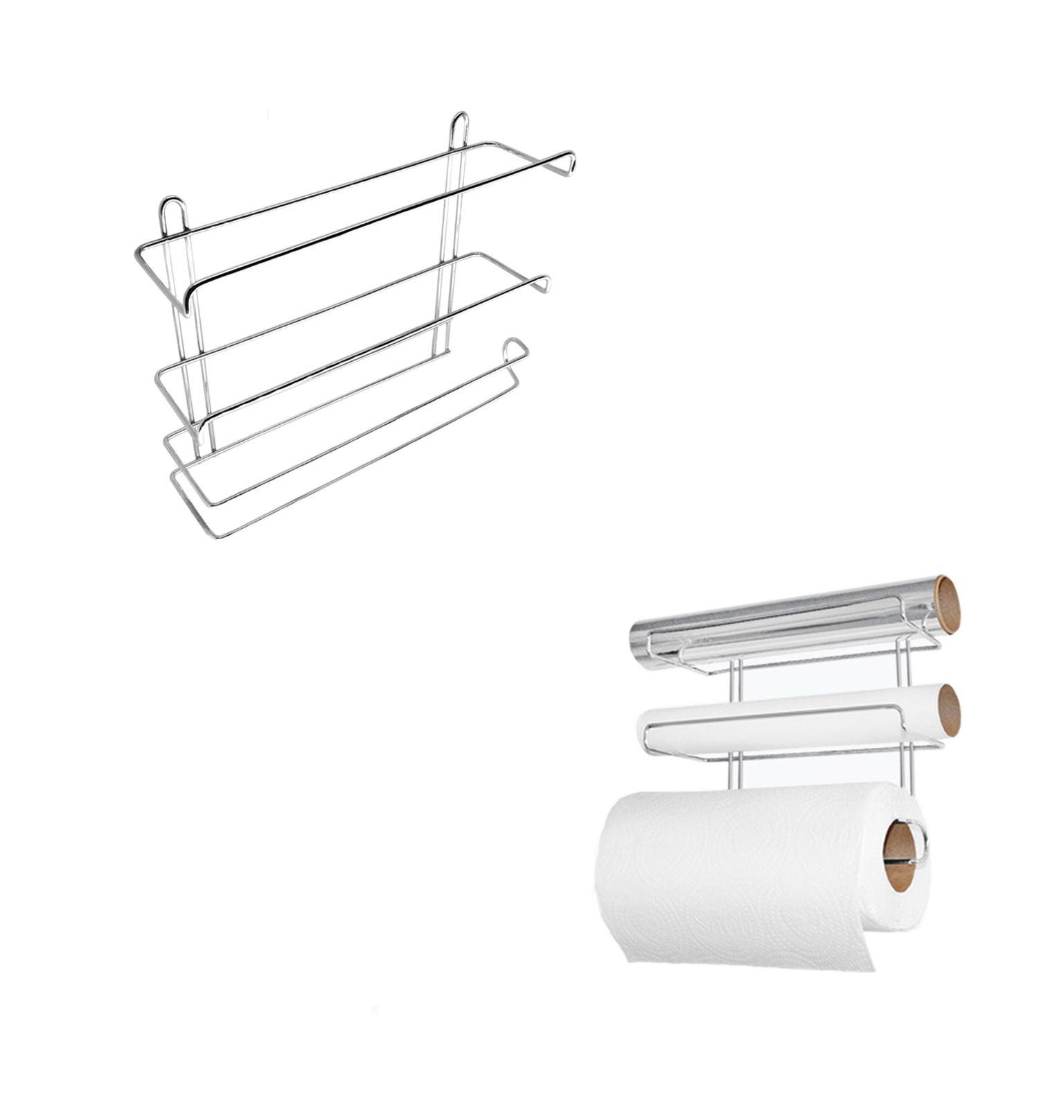 Suporte Triplo para Rolos Papel/Alumínio/Filme