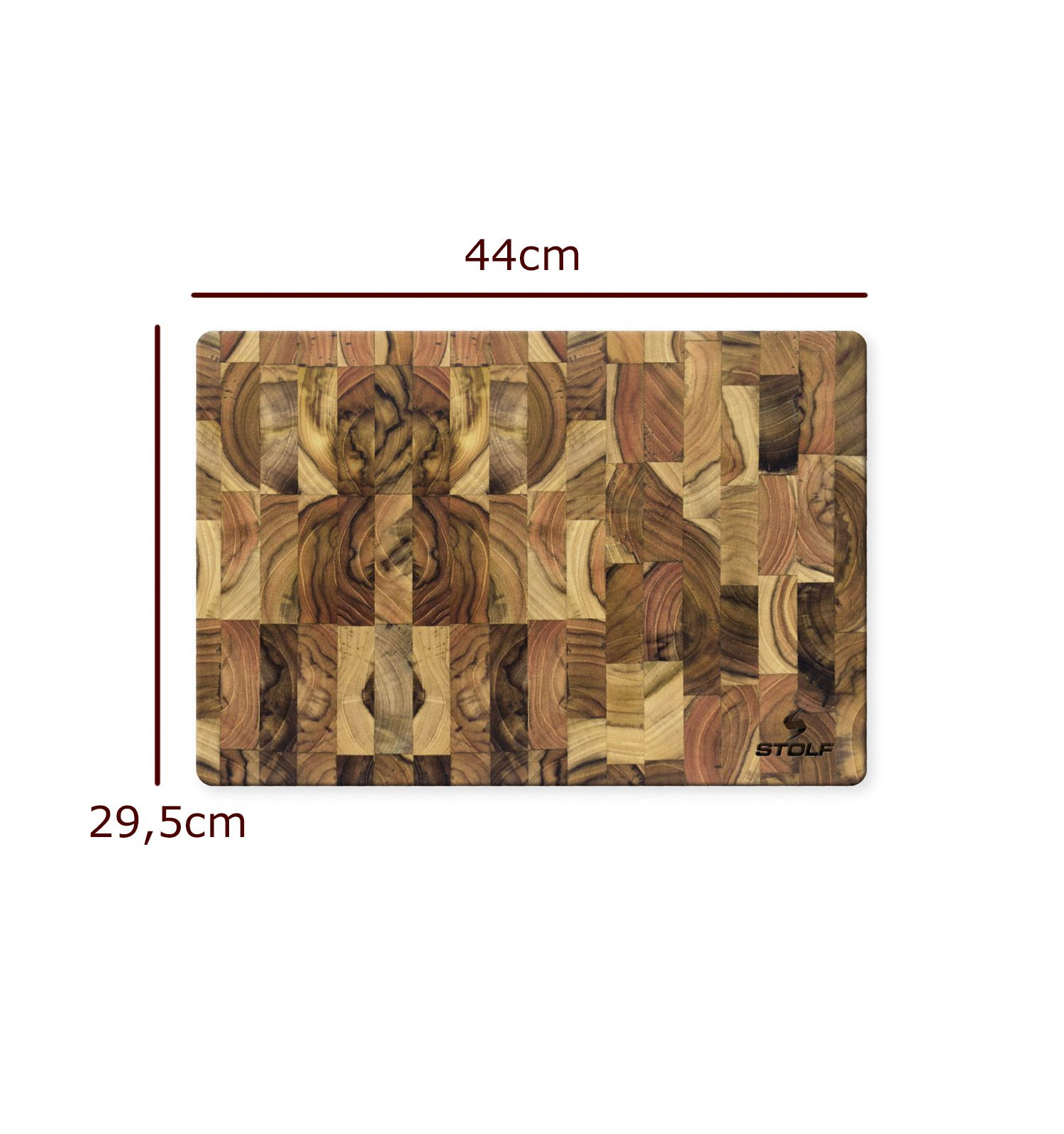 Tabua de Carne Madeira Invertida 44 x 29,5