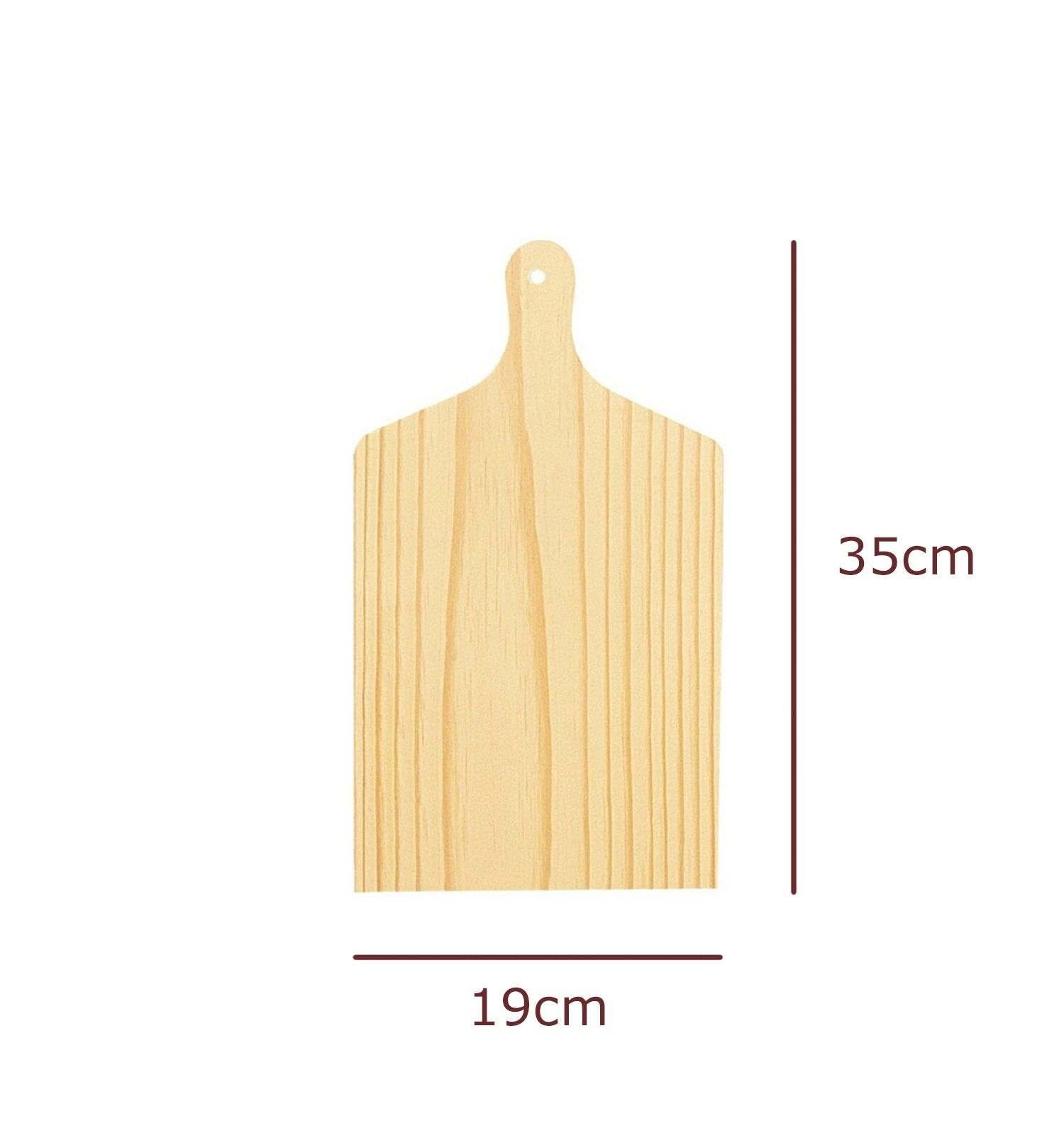 Tábua de Carne Pinus 19x35