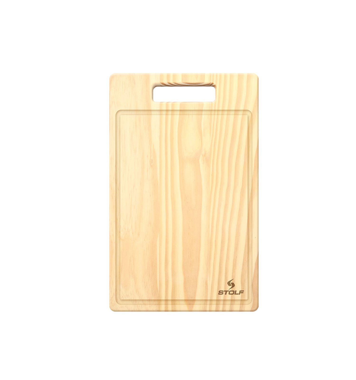 Tabua de Carne Pinus com Canaleta 44x30