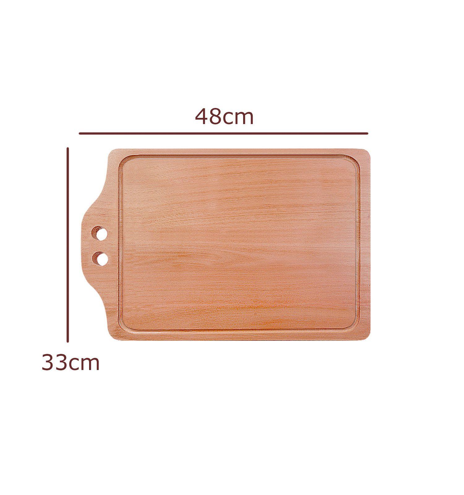 Tabua de madeira com Dois furos