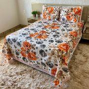 Colcha Texturada Isabela _Casal/laranja