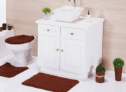 Jogo Banheiro Liso Veludo Sibéria