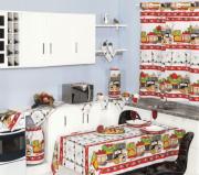 Jogo Cozinha Oxford Estampado C/ Cortina +TM 1,30m