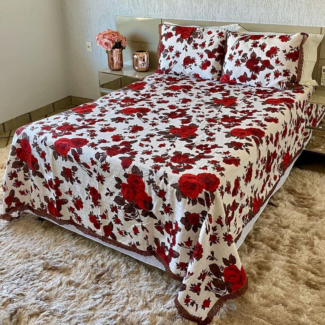 Colcha Texturada Isabela _Casal/Vermelha1