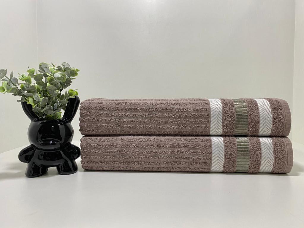 Toalha de Banho King Isabela ( marrom 01)