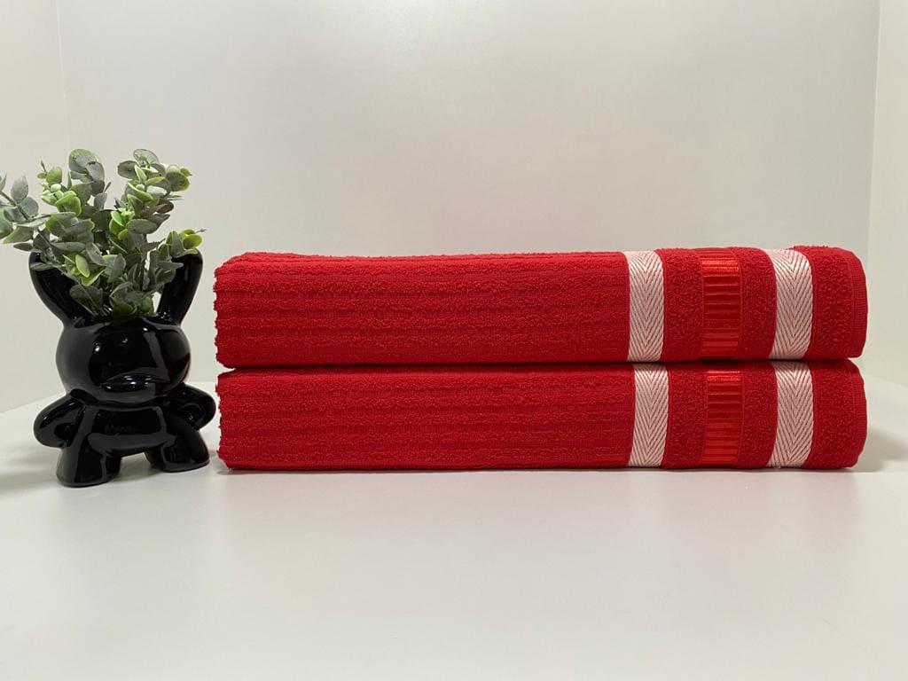 Toalha de Banho King Isabela ( vermelho 01)