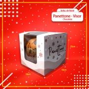Caixa Embalagem para Chocottone com VISOR 500g - 50 Unidades