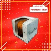 Caixa Embalagem para Panettone com VISOR 500g - 50 Unidades