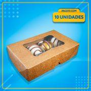 Embalagem com Visor para 8 Docinhos (KRAFT)