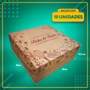 Embalagem KRAFT para Bolos e Tortas Nº33 (até 2 Kg)