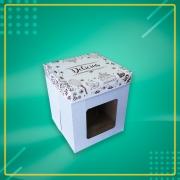 Embalagem para Bolo Alto com VISOR - Naked 26 - 10 unidades