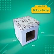 Embalagem para Bolo Alto com VISOR - Naked 26 - 25 unidades